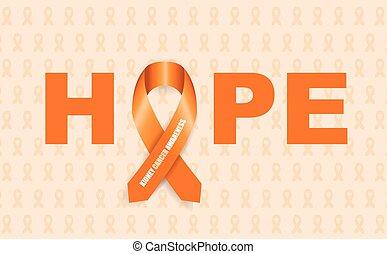 がん, 腎臓, リボン, 認識