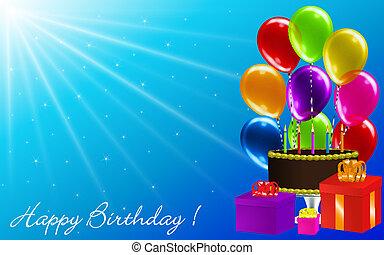 きらめき, birthday, 太陽光線, 背景