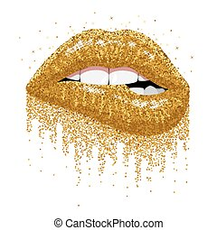 きらめく, 唇, きらめき, 金