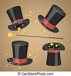 きらめく, 魔法の 細い棒, 帽子