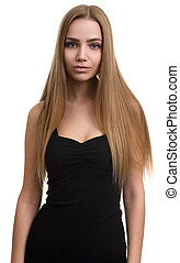 きれいにしなさい, 長い髪, かなり, 皮膚, 女の子