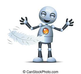 くすぐられた, わずかしか, ロボット, 笑い, 使うこと, 羽