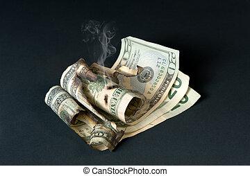 くすぶること, 通貨