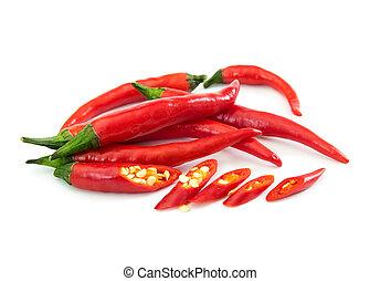 こしょう, 熱いチリ, 赤