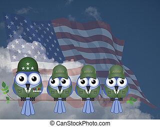 こっけい, アメリカ, 兵士