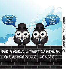 こっけい, 資本主義