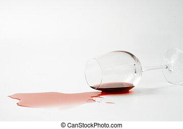 こぼされる, ワイン