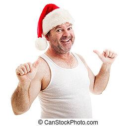 これ, claus, -, santa, grungy, 人
