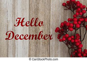 こんにちは, メッセージ, 12月