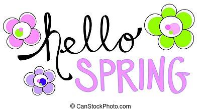 こんにちは, 春