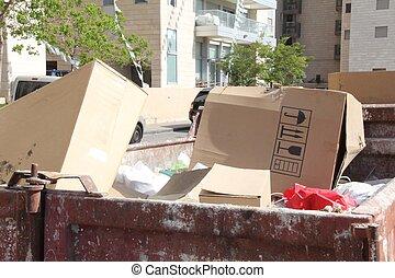 ごみ, がらくた, ゴミ箱, dumpster