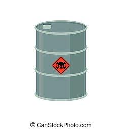 ごみ, 危険, 無駄, pollution., keg., 液体, cask., barrel., 屑, ...