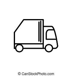 ごみ, 線の意匠, 輸送トラック