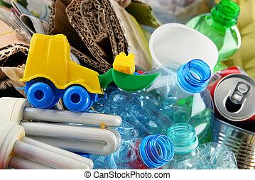ごみ, 金属, 再生利用できる, ペーパー, ガラス, プラスチック, consisting