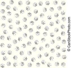 さいころ, パターン, seamless, ベクトル, 背景, 白