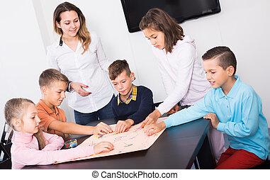 さいころ, 板, 子供, テーブル, 年齢, ゲーム, 基本