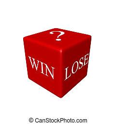 さいころ, 3d, lose?), (win, ∥あるいは∥