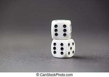 さいころ, concept., ゲーム, チャンス, ギャンブル, luck.