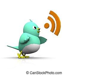 さえずり, 声, 鳥, 3d