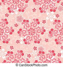 さくらんぼ, 抽象的, 花, パターン