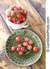 さくらんぼ, 赤, トマト