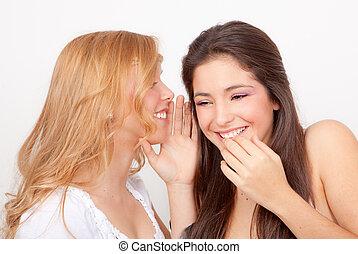 ささやくこと, gossiping, 十代の若者たち