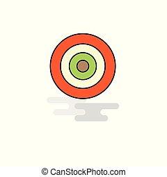 さっと動きなさい, ベクトル, icon., ゲーム, 平ら
