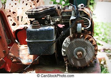 さびた, 古い, モーター