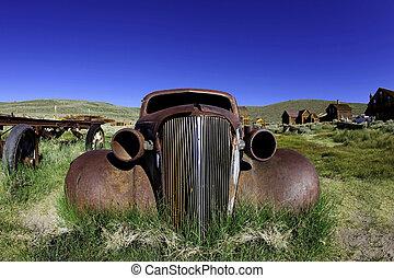 さびた, 古い, 型, カリフォルニア, 自動車, bodie