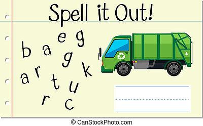 しばらくの間, 英語, 単語, ごみ収集車
