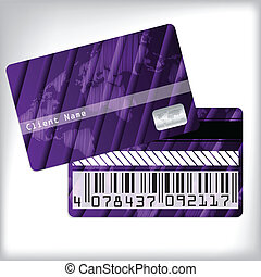 しまのある, デザイン, 忠誠, カード, 3d