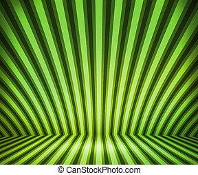 しまのある, 緑, 部屋, 背景, ショー