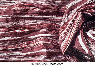 しまのある, 羊毛, 生地, スカーフ, 手ざわり