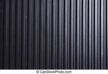 しまのある, 黒い背景, 金属