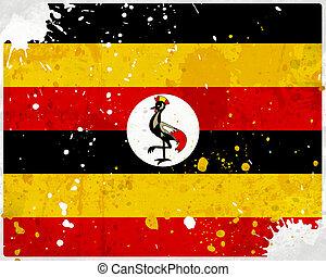 しみになる, 旗, グランジ, ウガンダ