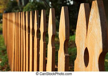 しみ, 木, 見通し, フェンス