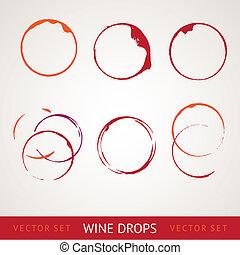 しみ, 赤ワイン