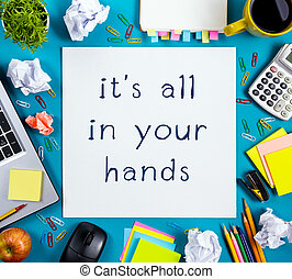 しわくちゃになった, 花, カップ, 供給, オフィス, ペーパー, 上, 机, パッド, メモ, バックグラウンド。, pc, ブランク, 木製である, 白, ペン, テーブル, 光景