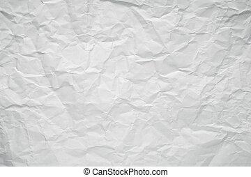 しわにされたペーパー, 白, オフィス, texture.