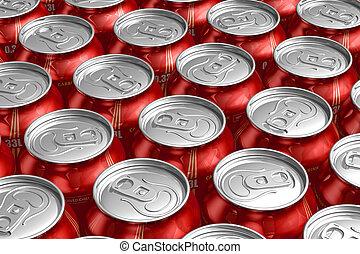 すがすがしい, 金属, 缶, 飲み物