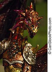 すばらしい, 彫刻, ドラゴン