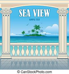 すばらしい, 海の 眺め