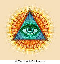 すべてを見る, 目, (the, providence)