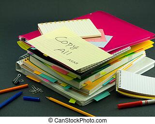 すべて, コピー, 山, ビジネス, documents;