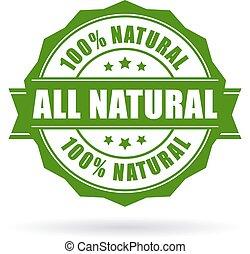 すべて, ベクトル, 自然, アイコン