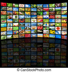 すべて, 使われた, 映像, tv スクリーン, イメージ, 特性, 私, 提示