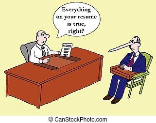 すべて, 権利, 本当, 履歴書