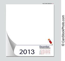 すべて, 要素, december., 層にされる, 単純である, editable., separately, ベクトル, 容易である, カレンダー, file., 2012