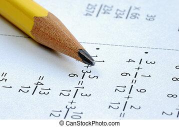 すること, いくつか, 小学校, 数学, ∥で∥, a, 鉛筆