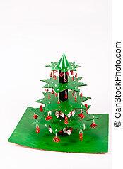 それぞれ, 小片, パスタ, 立ちなさい, 層, 木。, チューブ, 私達, 飾られる, のり, 作りなさい, 使うこと, ステップ, 星, クリスマス, 連結しなさい, ボール紙, ペーパータオル, いかに, 指示, 他